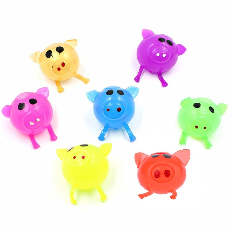 Splat Ball Pig Stress Relief Squeeze Toy Water Ball Vent Toy Gag Joke Slowly Returns Kid Toy Squishy Splat Ball Pig