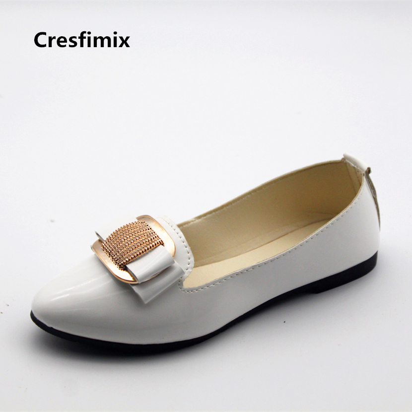 Cresfimix sapatos femininas women fashion spring & summer slip on flat shoes lady casual white office shoes female cute shoes cresfimix women cute spring
