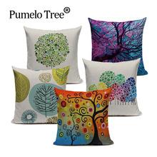 Wysokiej jakości poszewki na poduszki poszewki na poduszki na poduszkę zielone poszewki na poduszki poszewki na poduszki Sofa niestandardowa poduszka dekoracyjna tanie tanio Plac Dekoracyjne Pumelo Tree PLANT PRINTED CN (pochodzenie) WM-(126) Pościel bawełna printing HANDMADE Inne