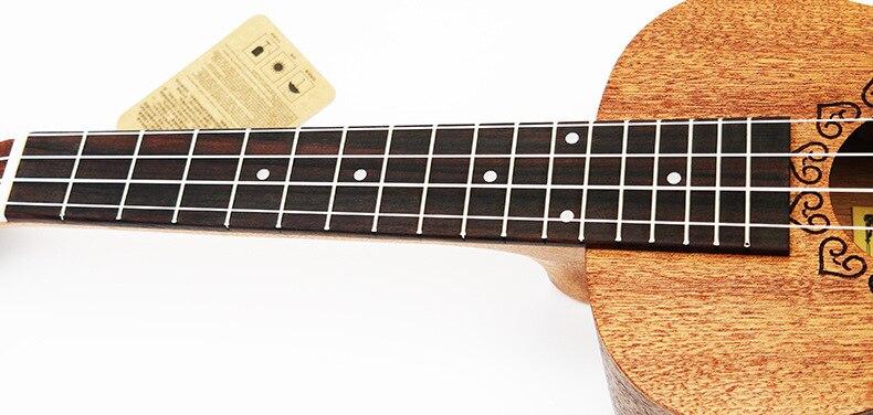 SevenAngel 21 pouces ukulélé acajou Soprano guitare de voyage Hawaii 4 cordes Ukelele électrique acoustique Gitar avec ramassage EQ - 4