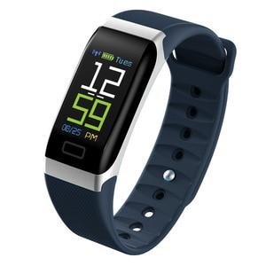 Image 1 - L8STAR R7 חכם צמיד להקת יד שעון גשש כושר קצב לב בריאות צג USB טעינה דם לחץ IP67 צעדים