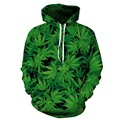 3D print Green leaf weed hip hop anti social social club thrasher palace bape yeezy off white bape shark hoodies men sweatshirt