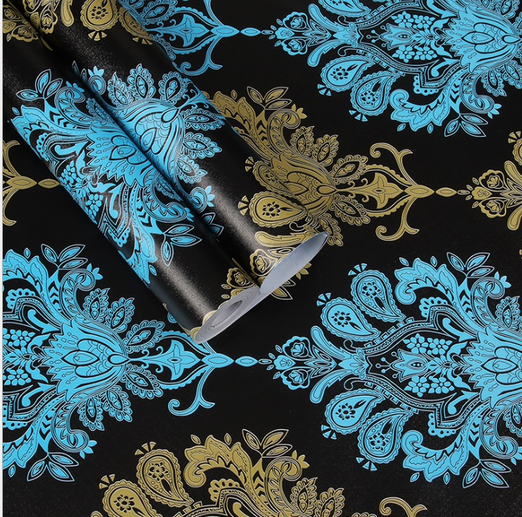 Новое поступление Высококачественная классическая дамастская Настенная Наклейка Виниловые обои papel de parede для украшения дома в рулоне Размер 0,45*10 м