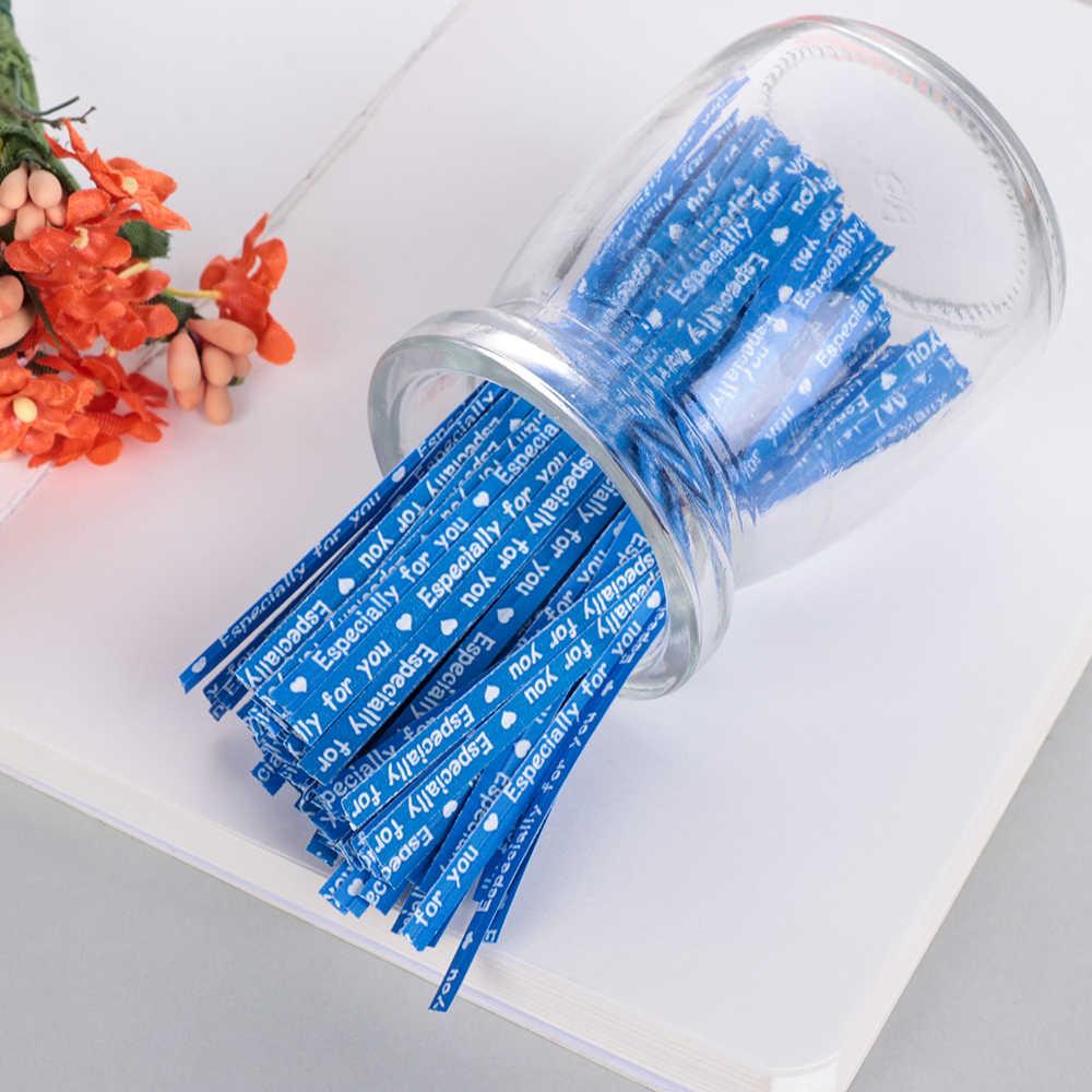 100 stks/pak Party Wedding Verpakking Tie Wikkelen Twist Vooral Je Afdichting Draad Gift Bag Bakkerij Event & Party Benodigdheden