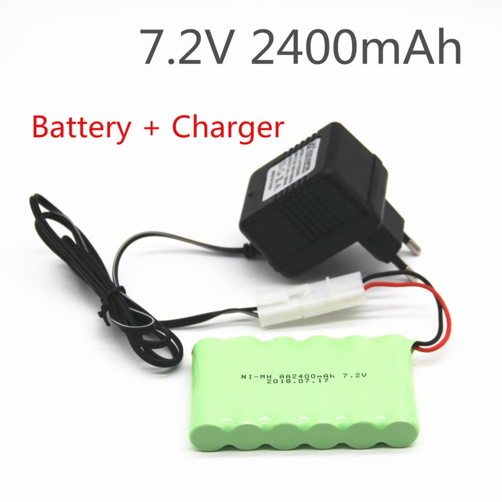 2400mah 7.2v Rechargeable Battery With Charger Pack Battery Nimh 7.2v Aa Nimh Battery For Remote Control Electric Toy Tool Boat