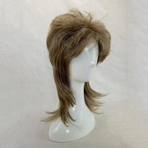 Image 4 - HAIRJOY erkek peruk katmanlı kıvırcık saç orta uzunlukta yüksek sıcaklık Fiber sentetik adam Cosplay peruk 7 renkler mevcut