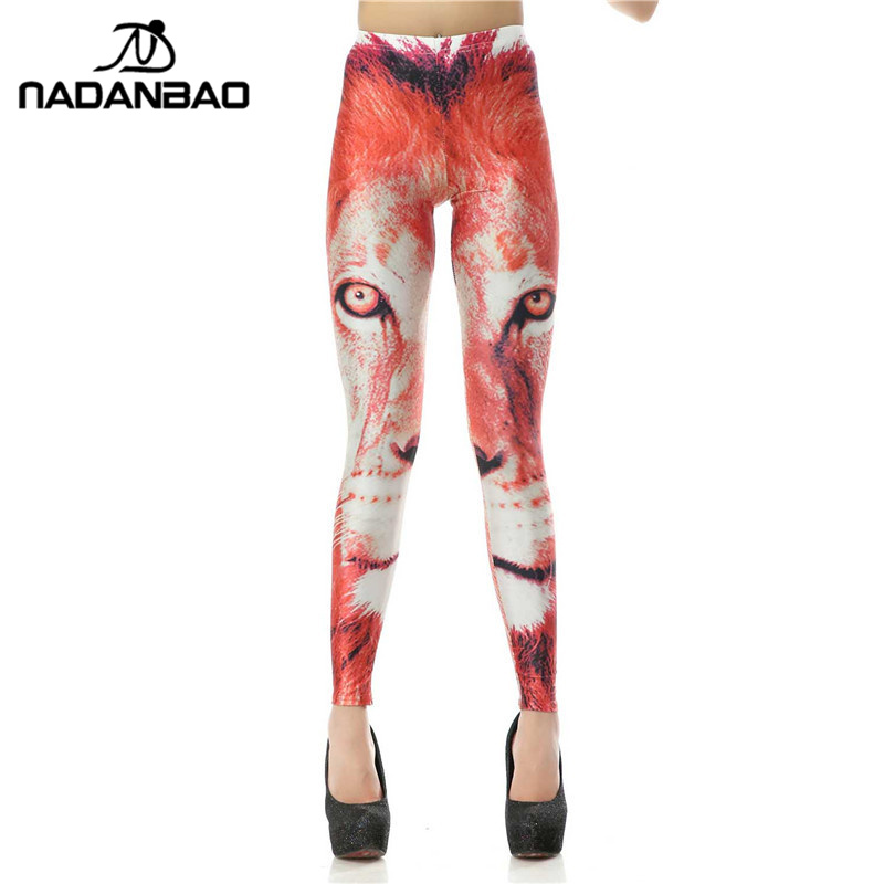 NADANBAO New Style   Legging   Animal Lion Legins Fashion 3d Digital Leggins Printed Women   Leggings   Women Pants