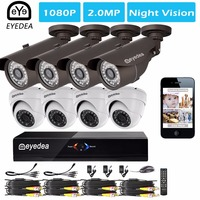 Eyedea 8 CH 1080P Standalone HDMI DVR Outdoor Indoor Dome Bullet 2 0MP 5500TVL CMOS LED