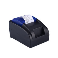 HSPOS Small android bluetooth printer USB thermal receipt printer no need ribbon with one year warranty for POS system printing