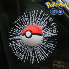 "Pokemon Go ""Pokeball Hit The Window"" Decoration"