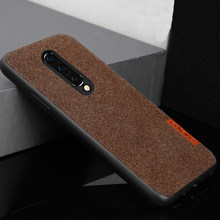 Fabric Case For Oneplus 7 pro Full Cover Soft silicone edge Case cloth Man business style For one plus 7 case 6t 6 5 5t fundas(China)