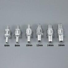 1 шт 6/8/10/12/14/16 мм из алюминиевого сплава с топливным обратным проверочным клапаном в одну сторону подходит карбюратор