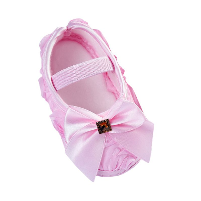 New Baby Girls First Walkers Todder Shoes Rose Flowers Bowknot Cute Princess Newborn Soft Sole Shoes
