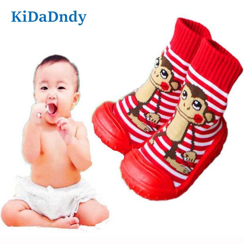 kidadndy Baby Zokni puha alsó csúszásmentes padló gumi talpú - Bébi ruházat