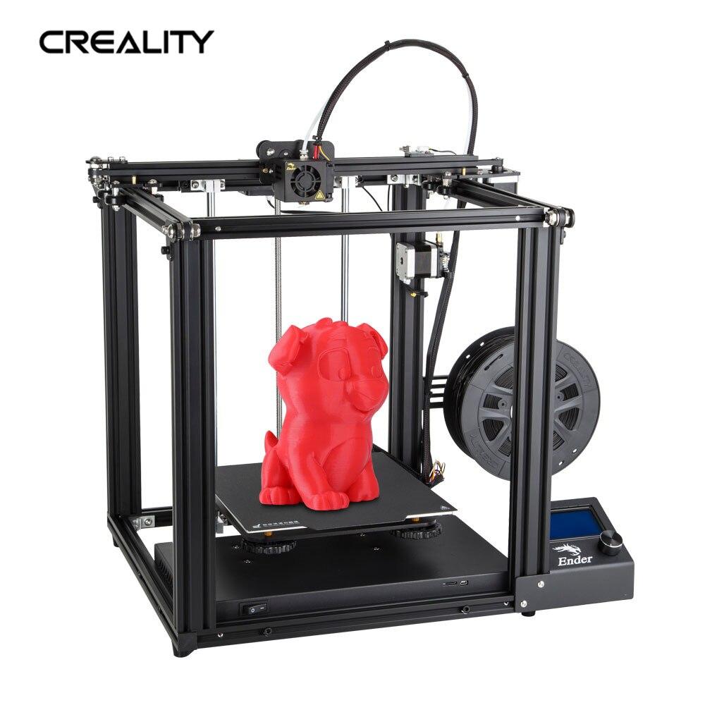 Original de Fábrica Criatividade 3D PrinterFull Ender-5 Printer 220*200*300 MM Núcleo de Metal-Estrutura XY Com Poder fora do Currículo de Impressão