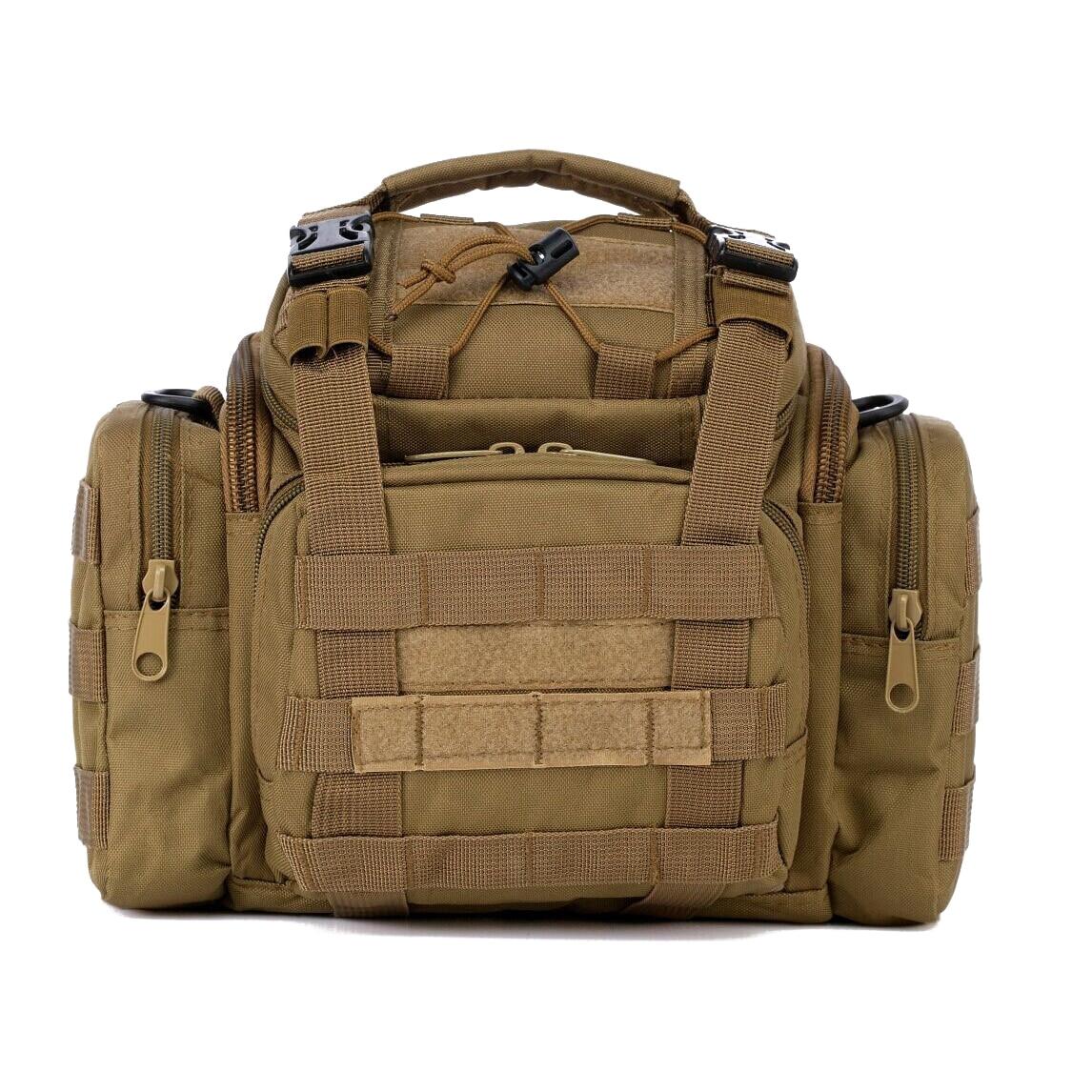 Sea/<font><b>Carp</b></font>/Fly Fishing Tackle Bag Waterproof Storage Waist Shoulder Carry Case sandy