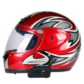 2Pcs/Lot 1200m Motorcycle Bluetooth Helmet Intercom for 6 Riders BT Wireless intercomunicador Interphone Headset MP3
