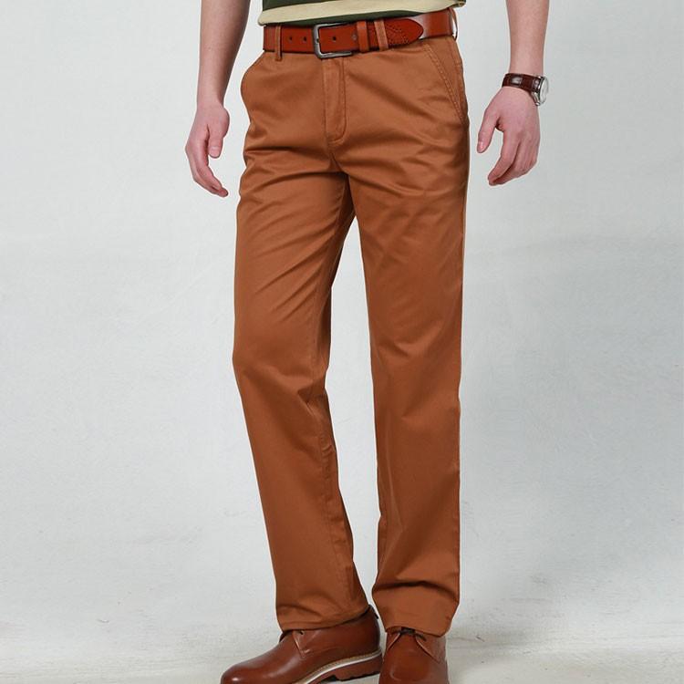 4 Colors 30-42 100% Cotton Fashion Joggers Men Casual Long Pants Men\'s Clothing Black Khaki Pants Trousers Autumn Summer Brand (7)