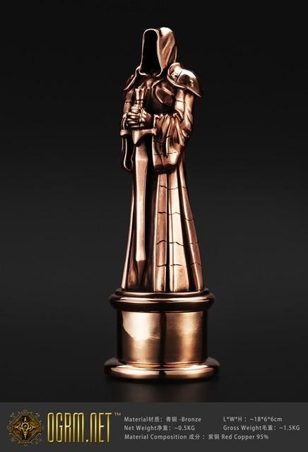 OGRM Crafts World Of Warcraft Championship Award Trophy Bronze Statute Figure Dark Portal Protector Bronze Sculpture Statue 1