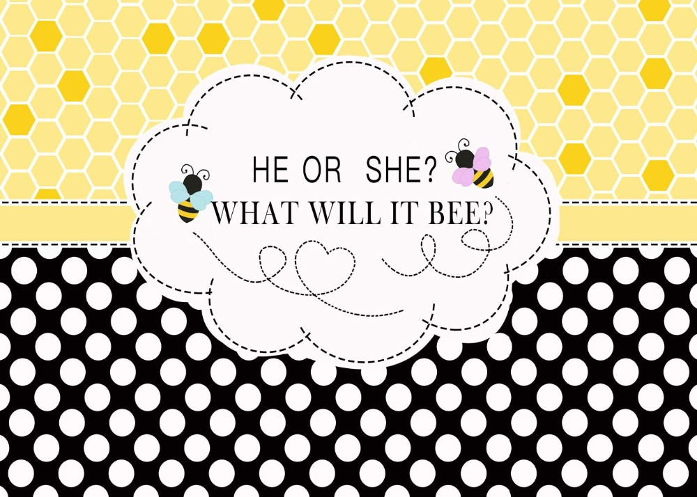Image 2 - Capisco Gender Reveal Party Backdrop Baby Shower Photo Background He or She What Will It Bee Photo Booth photography Props-in Background from Consumer Electronics