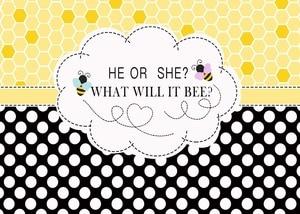 Image 2 - Capisco género Reveal fondo de fiesta fondo de foto de Baby Shower él o ella qué es lo abeja accesorios de puesto de fotografía