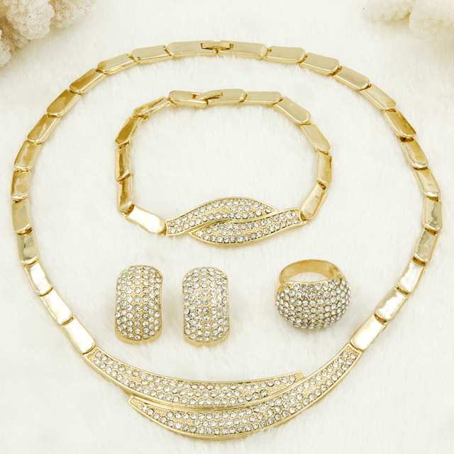 elegant sets necklace earring gold designer exclusive