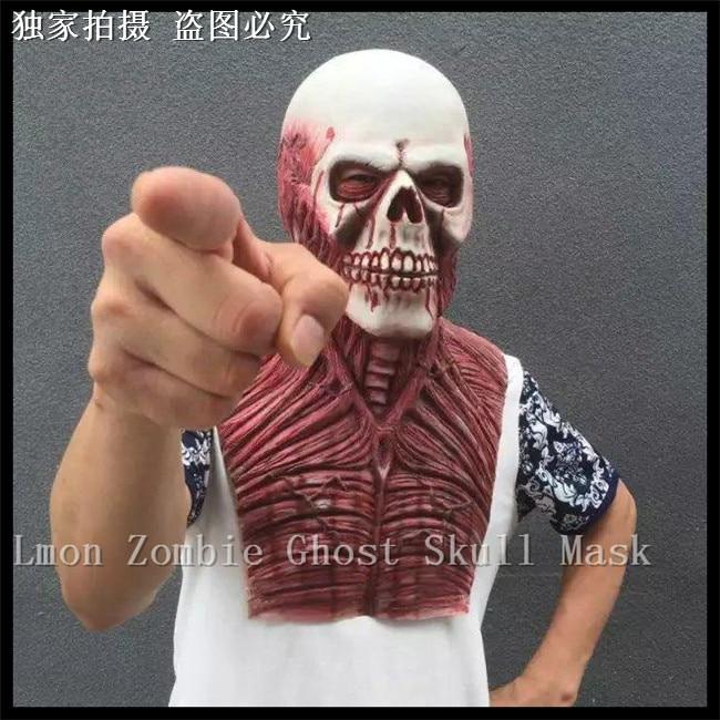 Date 2016 offre spéciale horreur diable horreur Zombie masque Halloween Zombie diable masque effrayant fantôme masques Terrible sang Vampire masque