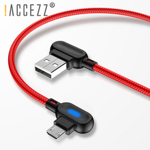 !ACCEZZ 90 Degree Micro USB Cable Fast Charging For Xiaomi Redmi Note 5 Pro Samsung S6 S7 Huawei Tablet Android Data Sync Cables