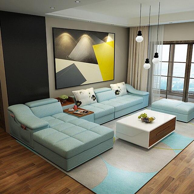 Online Shop Woonkamer meubels moderne l-vormige stof sofa set ...