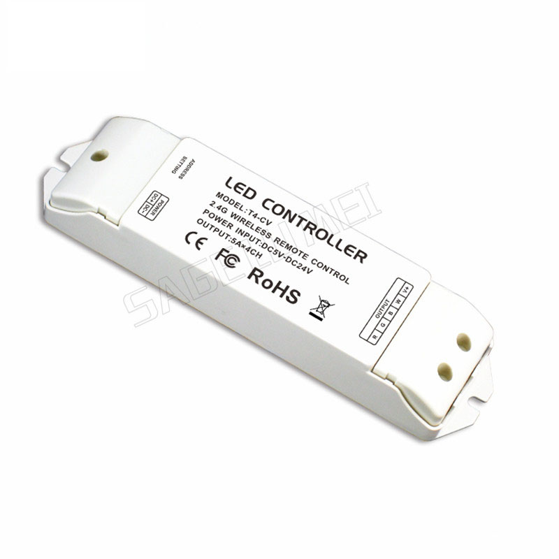 T4-CV Receiving controller 2.4G Wireless Constant Voltage LED Receiver Suitable for T1, T2, T2M, T3, T3M, T3X, T4 Remote Control t4 cc receiver controller 2 4g wireless remote constant current led current suitable for t4 remote control free shipping