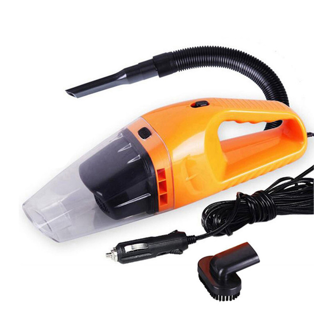Portable Car Vacuum Cleaner with 120W 12V Cable Handheld Mini Super Suction Wet And Dry Dual Use Hepa Filter for Car Care 1029