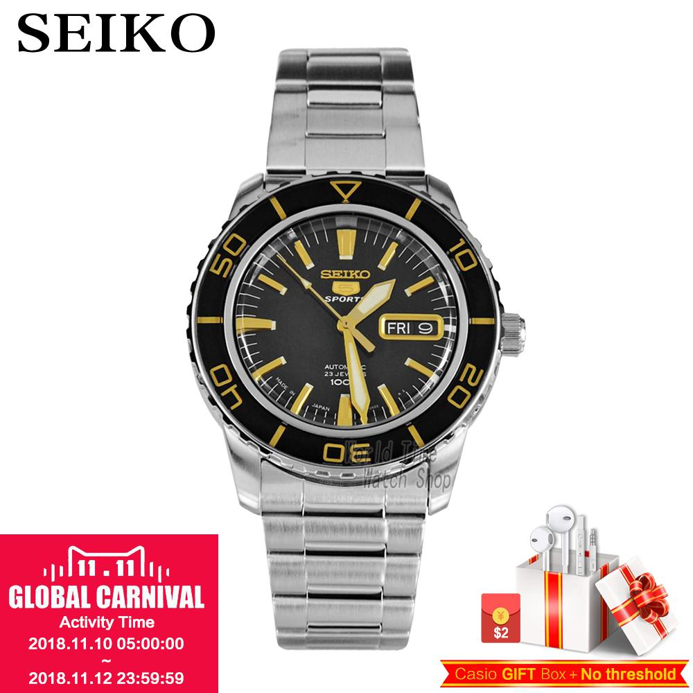 SEIKO Watch Seiko 5 automatic mechanical movement diving male watch casual fashion strip watch SNZH57K1 SNZH55J1 цена и фото