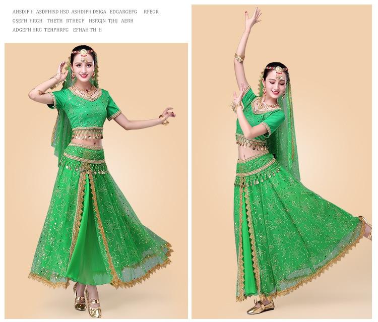 13de08011 2018 Sari Dancewear Women Belly Dance Clothing Set Indian Dance ...