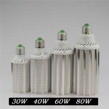 Супер яркий 30 Вт 40 Вт 60 Вт 80 Вт из светодиодов лампы E27 E40 110 В 220 В лампада кукурузы лампочки подвеска освещения люстра потолок пятно света