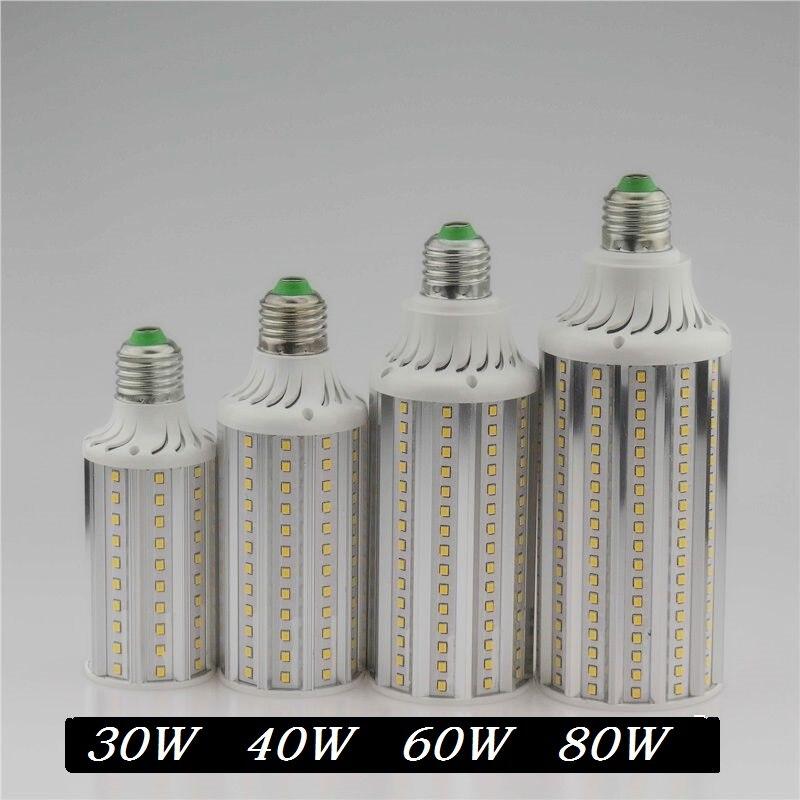 Super Brilhante 60 40 30 w w w E27 E40 80 w CONDUZIU a Lâmpada 110 v 220 v Milho Lampada lâmpadas de Luz Pingente de Iluminação Lustre de Teto luz Do Ponto
