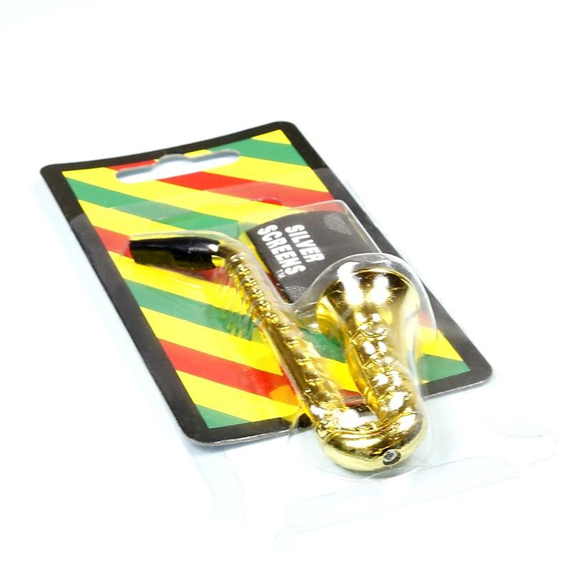 Saksofona cauruļu garums 97MM garīgās filtru cauruļu turētājs Dūmu smēķēšana Veselīga ūdens cauruļu ūdenspīpe Shisha piliens kuģis