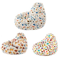 1pc Cute Animal Bean Bag Lounger Sofa Cover Chairs Outdoor Couch Lazy Bean Bag Sofa Case Cover Without Filling Seat Living Room