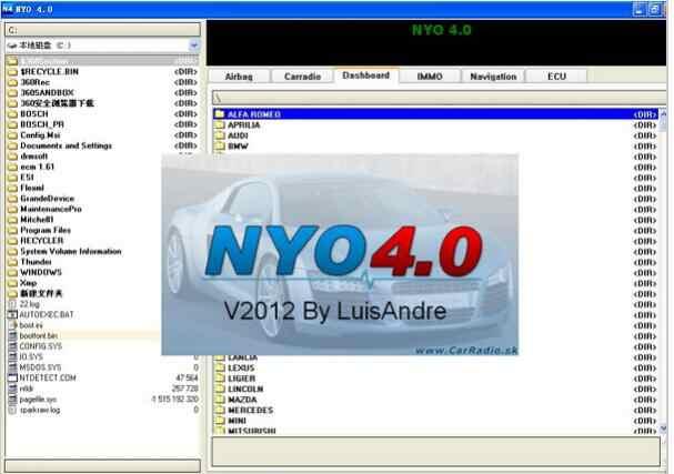 NYO 4.0 XP seulement 4 V4.0 complet pour odomètre RadioCar Airbag navigateur pas besoin actif pas besoin d'installer ouvert et peut fonctionner