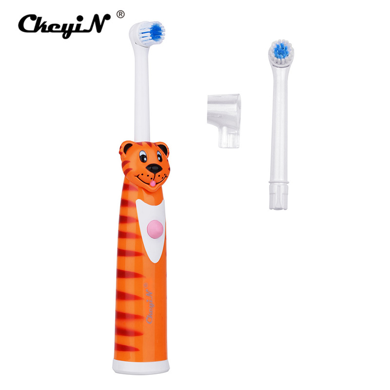 2 Heads Battery Powered Electric Toothbrush for Children Cartoon Tooth Brush Baby Electric Massage Cleaner Oral Hygiene Kids 442 Heads Battery Powered Electric Toothbrush for Children Cartoon Tooth Brush Baby Electric Massage Cleaner Oral Hygiene Kids 44
