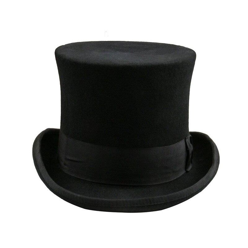 # Vittoriano /& Gothic Uomo Cappello a cilindro nero lana feltro Costume adulti