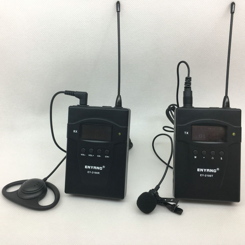 EY-2100 wireless tour guide system simultaneous interpretation system, sound amplifying device wireless voice guide device tp wireless tour guide system for teaching travel simultaneous translation meeting museum visiting 1 transmitter 30 receivers