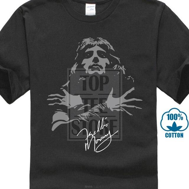 1d287af1 Freddie Mercury Queen Band Autograph Sign Men'S T Shirt Print T Shirt  Harajuku Short Sleeve Men Top New Fashion Men T Shirt