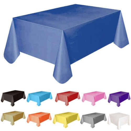 11 צבעים מפת שולחן כיסוי 137x138 cm מלבן מסיבת נושא פשתן חדש מוצק פלסטיק עמיד למים שולחן בד
