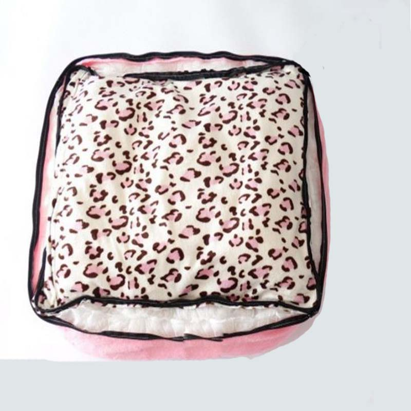 Korea Style Princess Dog Cat Bed Pink Leopard Pet House Sleeping Bag With Pillow Puppy Cushion Kennel Sofa Cama Perro In Houses Kennels Pens From