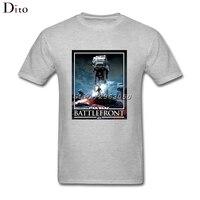 Star Wars Battlefront AT AT T Shirt Men S Online Designer Custom Short Sleeve Valentine S