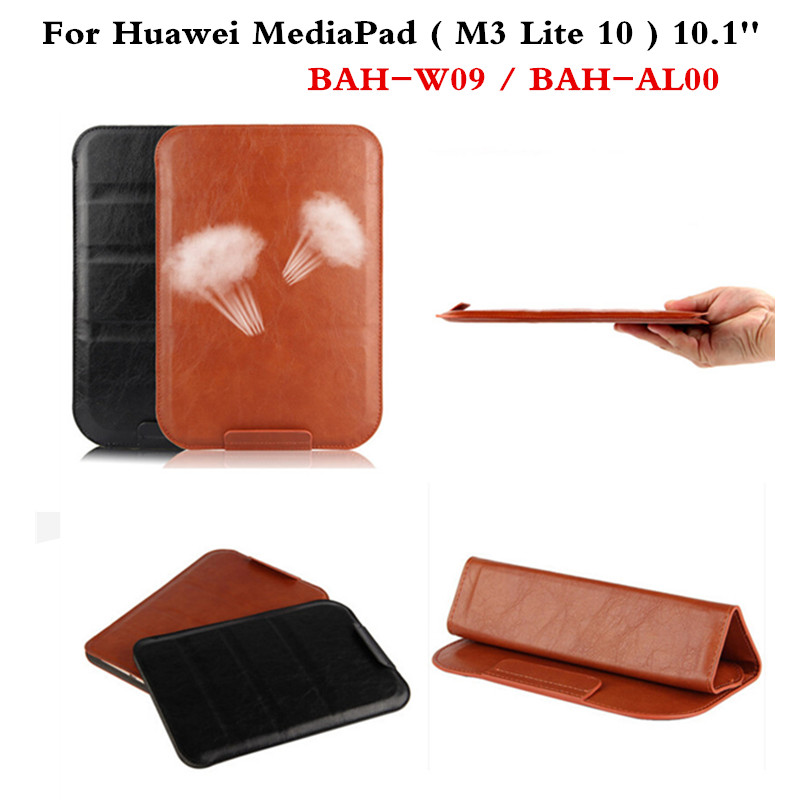 PU Leather case sleeve super slim cover Pouch Bag Sleeve Bag Cases For Huawei MediaPad M3 Lite 10 BAH-W09 BAH-AL00 10.1'' Tablet cover case for huawei mediapad m3 youth lite 8 cpn w09 cpn al00 8 tablet protective cover skin free stylus free film