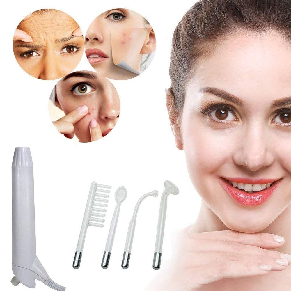 alta frequência da máquina, terapia, acne, removedor de rugas