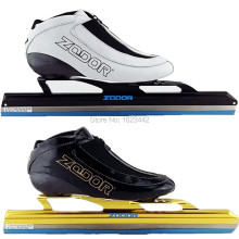 Ice Speed Skate ice ZODOR Skate boot carbon boot long track skating shoesDislocation ice skate blade 380mm 410mm 430mm