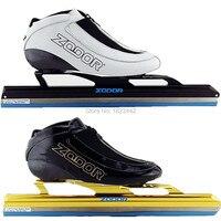 Patin À glace De Vitesse glace ZODOR Skate boot carbone boot longue piste de patinage shoesDislocation patin à glace lame 380mm 410mm 430mm