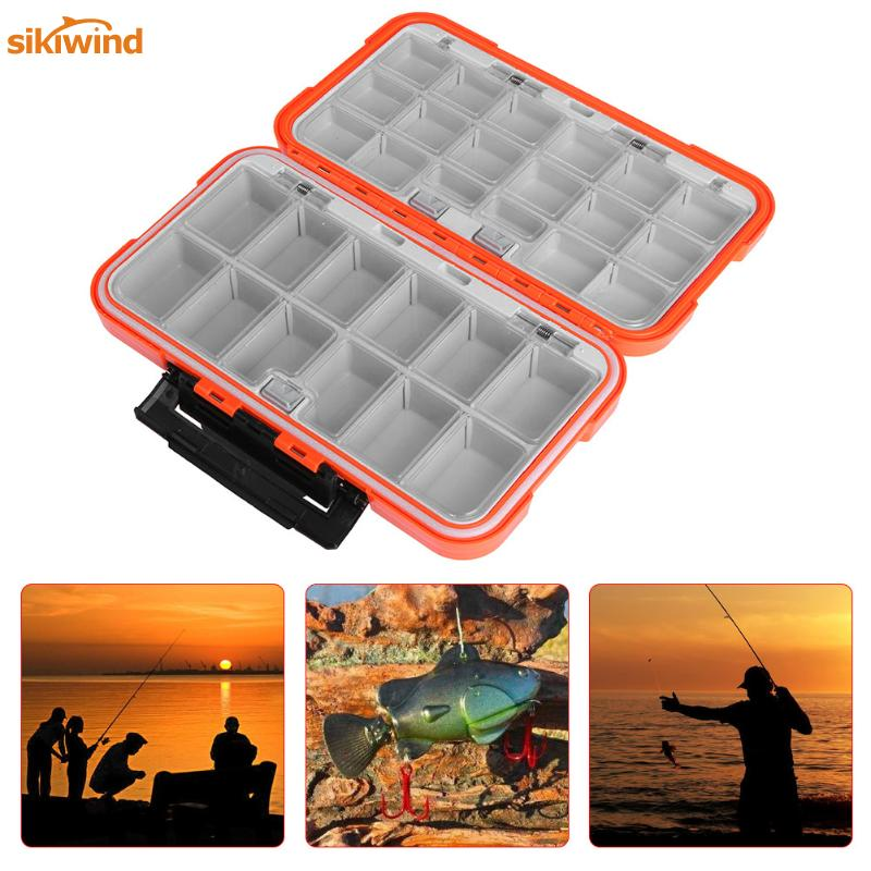 Double Layer Fishing Boxes Plastic 30 Compartments Large Storage Case Waterproof Fly Carp Fishing Accessories Tools Tackle Box коробка для мушек snowbee easy vue waterproof fly box large